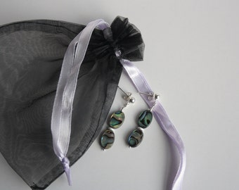 Two sided Abalone shell earrings