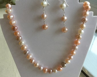 Real Multicolour Pearl Necklace