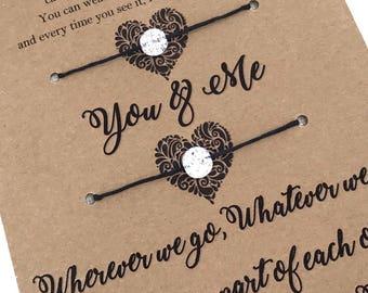 YOU & ME Bracelets ~ Friendship Bracelets / Mother and Daughter Bracelets / Couples Bracelets / His and Her Bracelets