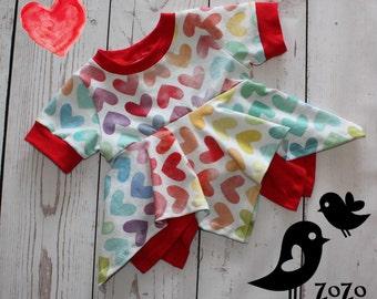 Watercolour Hearts Shirt - 12 months