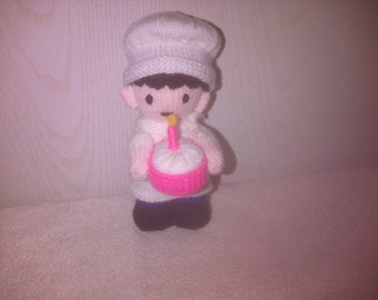 Hand Knitted Chef 8 inches tall
