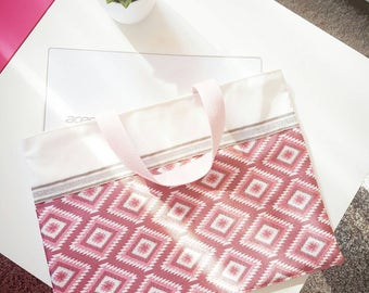 Pink Aztec bag. Size for laptop