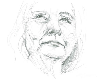 Print of Hillary Clinton drawing