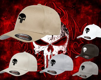 Punisher hat  flex fit ball gun sniper cap high quality flexfit cap stitched high quality limited time  many color