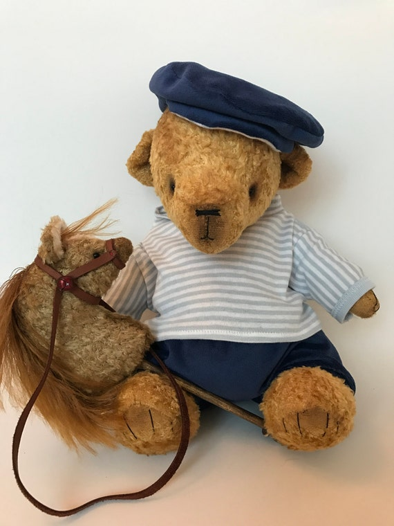"Handmade OOAK artist bear ""Boy twin"". Handmade collectible teddy bear. Growler."