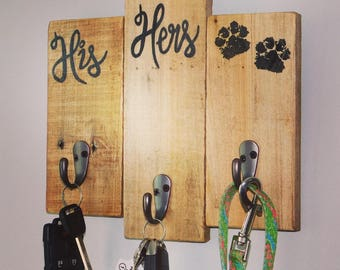 His hers dog key holder