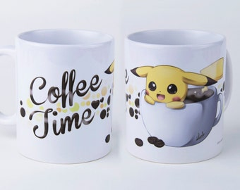 Pikachu coffee time! * Cup/mug 340ml *.