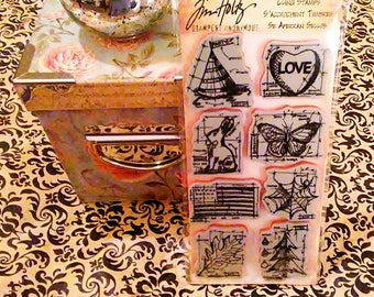 Tim Holtz Stampers Anonymous ~Happy Everything Blueprints~ Cling Stamp Set
