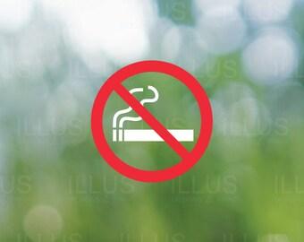 No Smoking 2 Color Vinyl Decal // No Smoking Sign, No Smoking Decal, No Smoking Sticker, Smoker Decal, Business Storefront, Business DIY