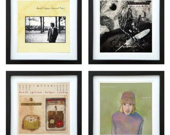 David Sylvian - Framed Album Art - Set of 4 Images