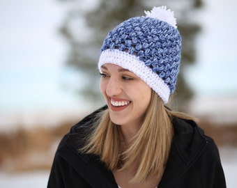 CUSTOM puff stitch beanie