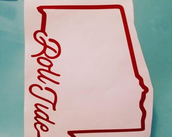 Roll tide car decal