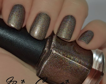 Mid-City Mingle - Brown Holographic Nail Polish
