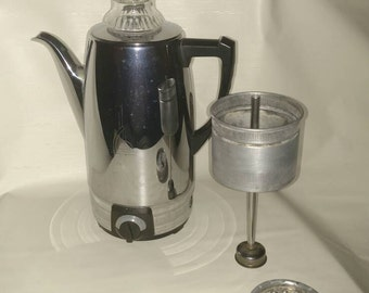 Vintage Sunbeam Coffeemaster 10 Cup Electric Automatic Percolator Model AP