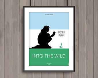 INTO THE WILD, minimalist movie poster