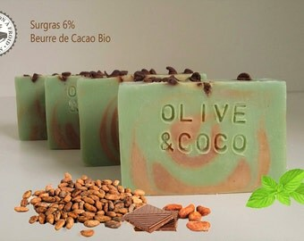 ChocoMenthe - SOAP Superfatted 6% cocoa butter
