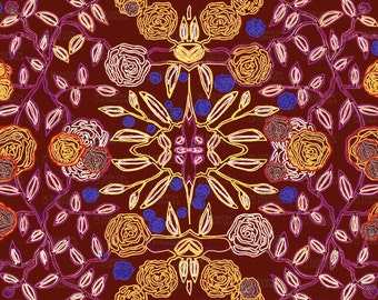 Floral Pattern Fabric by Maryartdecor