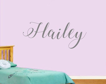 Custom Room/Bedroom Name Decal in Custom Calligraphy Script