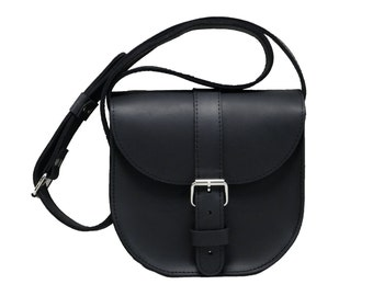 Tiny, still spacious leather handbag