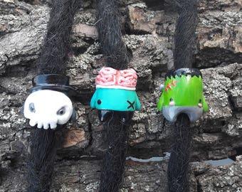 Dread bead dread beads Frankenstein monster horror Halloween dread bead