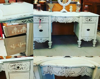 Turn of the Century Shabby Chic Painted Vanity