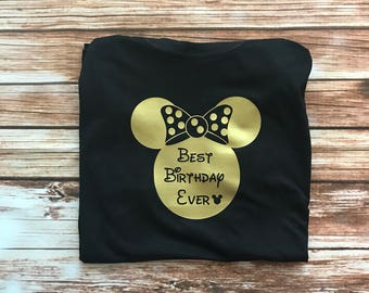 Disney Adult Birthday Tee or Tank