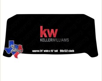 Keller Williams Glitter Table Cloth Cover