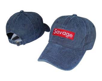 Denim blue savage baseball cap