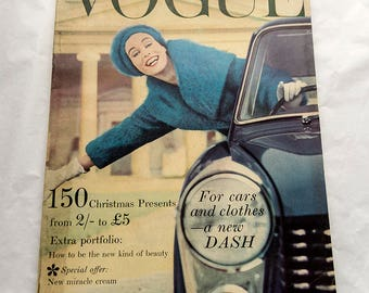 Vintage Vogue Magazine November 1958 (UK Edition) Armstrong Jones Cover