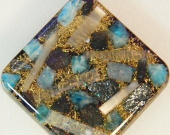 Apatite Mica Selenite Orgone Pendant Black Sun Quartz Crystals Jewelry Copper Coil