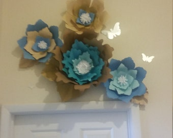 Wall flowers made to order