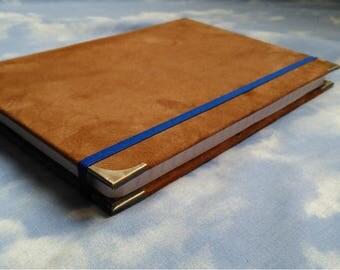 Elegant notebook skin soft. Smart journal. Personal diary. Business agenda. Book of spells. Recipe book