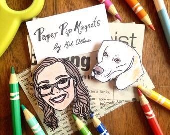 Custom Pet Magnet Set, Custom Dog Lover Gift, Funny Dog Lover Gift, Funny Pet Gift,Dog Lover Birthday Gift,Dog Mom Gift,Dog Mom,Pet Portrait