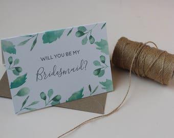 Will you be my Bridesmaid || Rustic Bridesmaid card || Wedding card