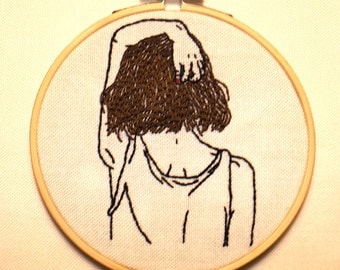 Going away, Embroidery