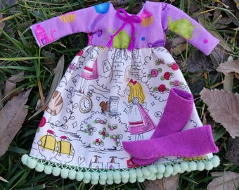 Alice in wonderland dress for blythe doll - dress Alice in the country of the wonders for blythe doll