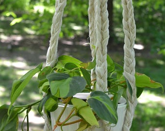 Love Thyself • Braided plant hanger