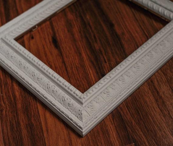 8x10 light grey ornate picture frame. Black Bedroom Furniture Sets. Home Design Ideas