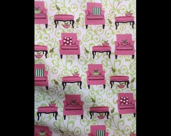 Perfectly fabric for dress clothes pink fabric armchairs perched birds cotton patchwork americana fabric fabric fabric upholstered cushions