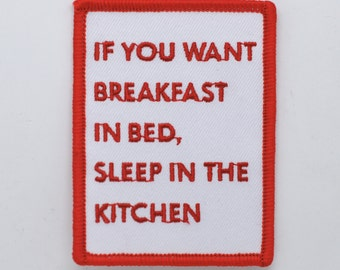 breakfast in bed / fun iron on patch