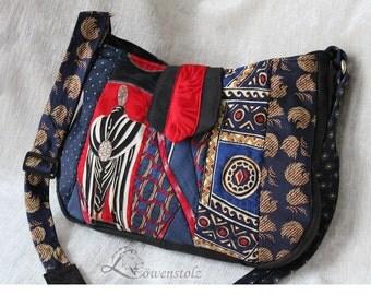 Tie bag, shoulder bag - Upcycling