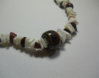 Rhodonite and Seashell Necklace