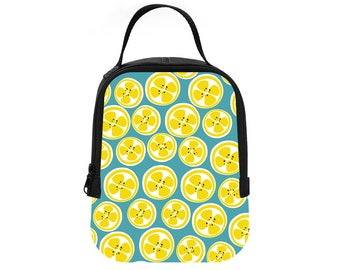 Lemon Summer Fun Printed Lunch Tote Lunch box Lunch Bag