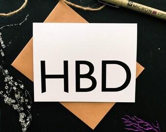 HBD - Best Friend Birthday - Bday Cards - Birthday Cards - Friend Bday Card - Tween Birthday Card - Daughter Bday Card. Happy Birthday Cards
