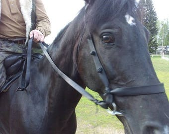 """Bridle """"Steppe"""" or """"Cossack""""with rein аdorned with knots, Horse tack, Handmade"""