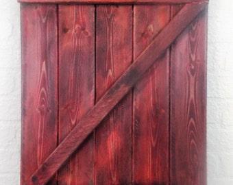 large Red Rustic Barn Door Wall Decor