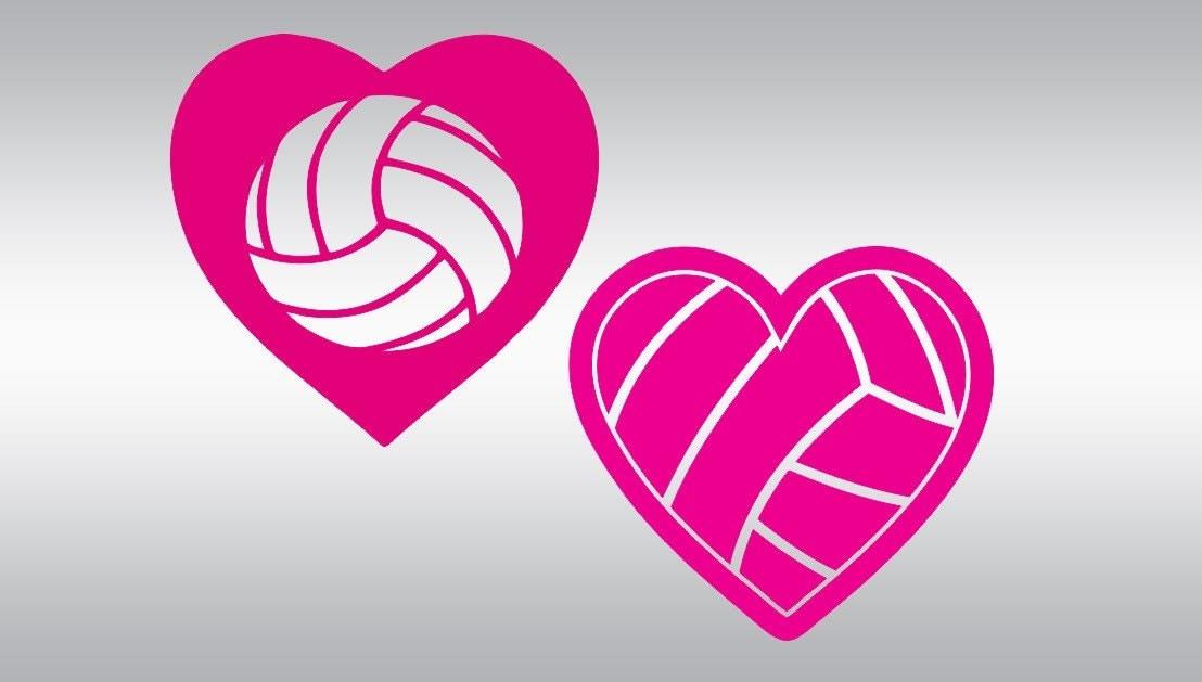 Volleyball svg cut files Valentine's day svg Volleyball