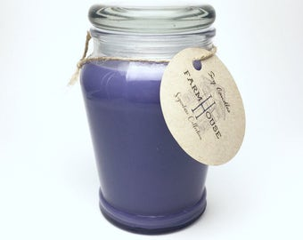 Lavender Soy Candle Handmade 14oz, Scented Candle, Soy Wax, Natural Candle, Homemade Candle
