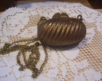 Brass Lipstick Case with Chain