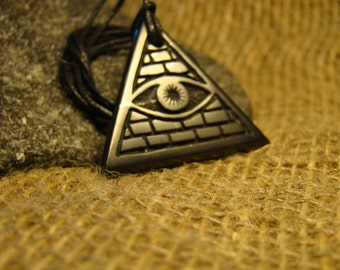 "Shungite pendant ""all-seeing eye in the triangle"" from Karelia mascot."